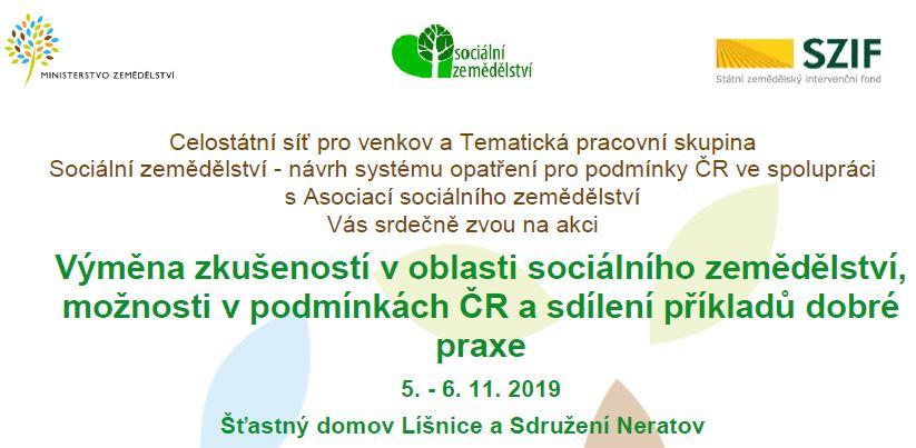 Workshop o sociálním zemědělství v Líšnici a Neratově, 5. a 6. 11. 2019